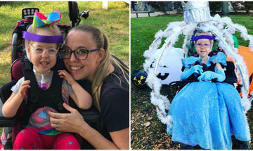 Θα συγκινηθείτε! Μαμά μετέτρεψε την αναπηρική καρέκλα της κόρης της σε άμαξα της Σταχτοπούτας (vid)
