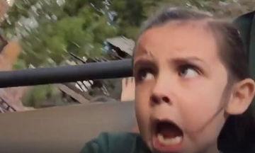 Ποιος είπε ότι τα παιδιά διασκεδάζουν πάντα στα πάρκα αναψυχής; (video)