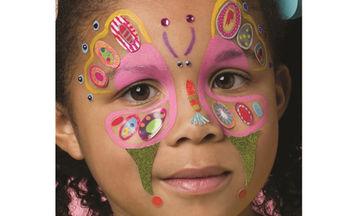 Αποκριάτικο facepainting για κορίτσια πεταλούδα: Δείτε πώς θα το φτιάξετε