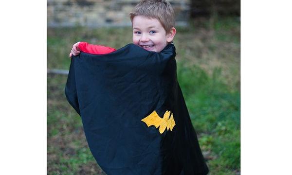 Αποκριάτικη στολή για αγόρια: Κάπα με μάσκα Μπάτμαν-Σπάιντερμαν