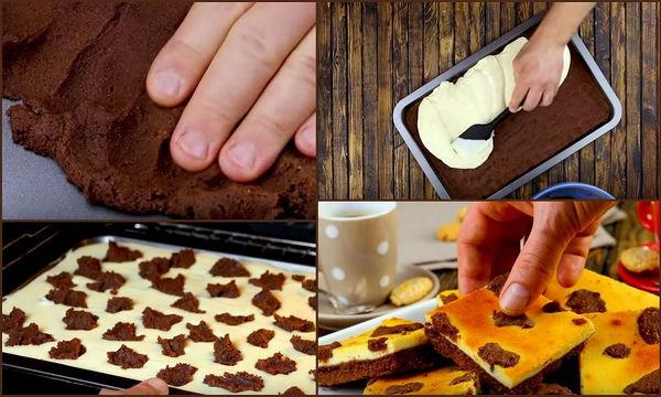 Το Ρώσικο γλυκό που αποθεώνει το διαδίκτυο: Ασπρόμαυρο brownie cheesecake (vid)