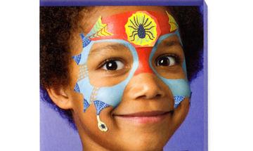 Αποκριάτικο facepainting για αγόρια: Σούπερ Ήρωας
