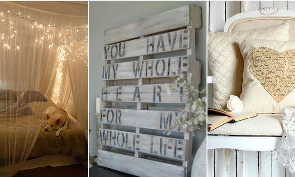 Είκοσι ιδέες για ρομαντικά υπνοδωμάτια