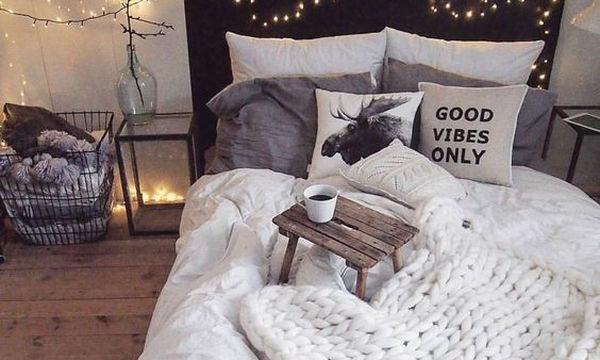 Ιδέες για να κάνετε την κρεβατοκάμαρά σας, ζεστή και χουχουλιάρικη