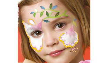 Αποκριάτικο facepainting για κορίτσια: Νεράιδα των λουλουδιών