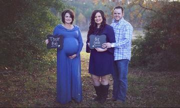 Το μεγαλείο της παρένθετης μητρότητας: Μαμά κουβαλάει το μωρό του γιου της (pics+vid)