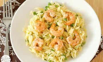 Εύκολη νηστίσιμη συνταγή: Κριθαρότο με γαρίδες και λεμόνι