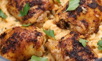 Ψητό κοτόπουλο με πάπρικα και ρύζι - Εύκολο και πολύ νόστιμο