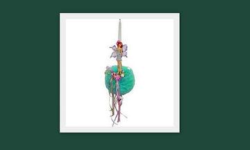 Ιδέες για πασχαλινή λαμπάδα: Νεράιδα λουλούδια πονπον