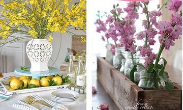 Τριάντα ιδέες για να στολίσετε με λουλούδια το τραπέζι σας (pics)