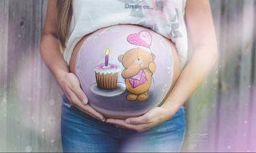Belly painting: Απίθανα σχέδια ζωγραφικής για κοιλίτσες εγκύων (pics)