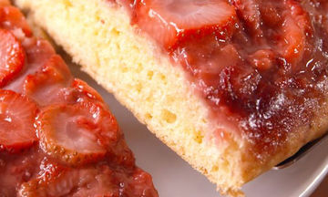 Ανάποδο κέικ φράουλας - Δεν έχετε δοκιμάσει νοστιμότερο