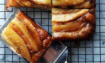Ανάποδο κέικ μπανάνας με σιρόπι - Το πιο γευστικό κέικ που έχετε δοκιμάσει
