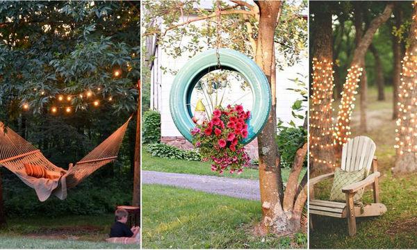 Τριάντα όμορφες και απλές ιδέες για να διακοσμήσετε τον κήπο σας