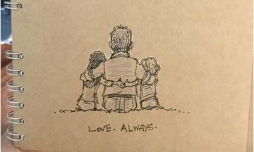 Η ζωή με δύο παιδιά μετά την απώλεια της μαμάς, μέσα από σκίτσα που θα σας ραγίσουν την καρδιά