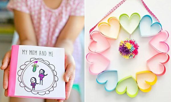 Δεκαπέντε δώρα που μπορούν να φτιάξουν μόνα τους τα παιδιά για τη γιορτή της Μητέρας