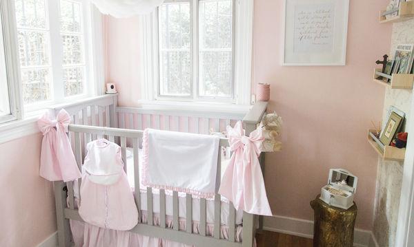 Υπέροχο βρεφικό κοριτσίστικο δωμάτιο: Κάντε το όπως η Christy Carlson Romano