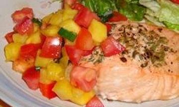 Ψητός σολομός με σάλτσα ανανά - Πανεύκολη κι άπαιχτη συνταγή