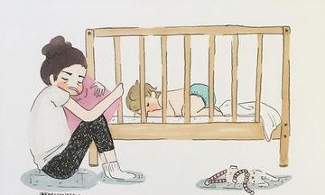 Η ζωή μίας μαμάς που μένει στο σπίτι με ένα παιδί 2 χρόνων, μέσα από απίθανα σκίτσα