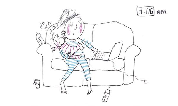 Μαμά απεικονίζει το χάος, τη σύγχυση αλλά και τη χαρά της μητρότητας σε μοναδικά σκίτσα (pics)