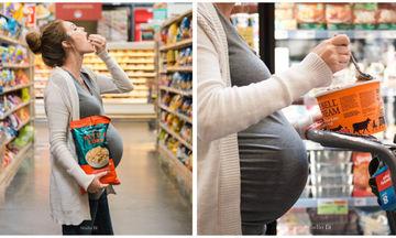 Μια μέλλουσα μαμά γιορτάζει την εγκυμοσύνη της με μια παράδοξη φωτογράφιση(pics)