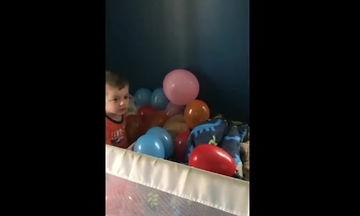 Η πρωινή έκπληξη ανήμερα των γενεθλίων του δεν ενθουσίασε το μικρό αγόρι (video)