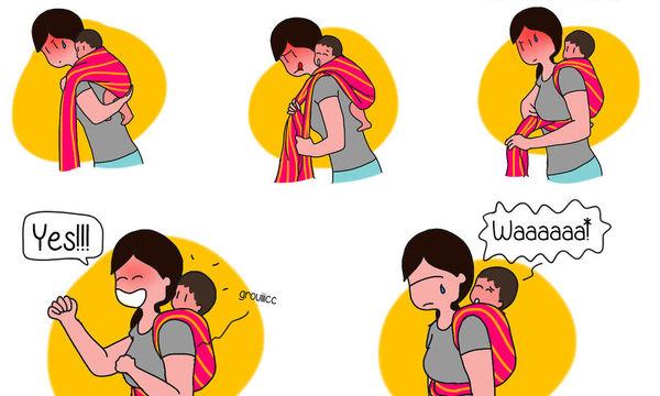 Οι αστείες αλλά και οι δύσκολες στιγμές της μητρότητας μέσα από τα σκίτσα μιας μαμάς (pics)