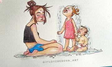 Καλλιτέχνιδα απεικονίζει σε σκίτσα τη ζωή της ως μαμά και εμείς ταυτιζόμαστε μαζί της (pics)