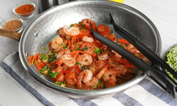 Συνταγή για νόστιμες γαρίδες σαγανάκι