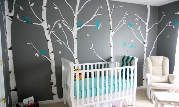 Είκοσι όμορφα και πρωτότυπα αυτοκόλλητα τοίχου για το βρεφικό δωμάτιο (pics)