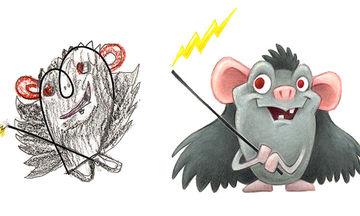 Καλλιτέχνης μετατρέπει τις παιδικές ζωγραφιές σε χαριτωμένα τερατάκια (pics)
