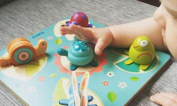 Παιχνίδι για παιδιά έως 3 ετών:  Παιχνίδι ανάπτυξης του συντονισμού χεριών & ματιών