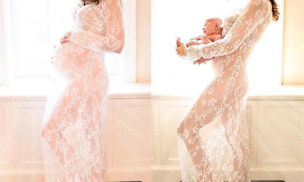 «Η αναμονή και η άφιξη!» - Διάσημη μαμά φωτογραφίζεται πριν και μετά την εγκυμοσύνη της (pics)