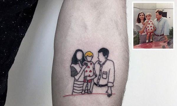 Καλλιτέχνης μετατρέπει αγαπημένες φωτογραφίες σε μοναδικά τατουάζ (pics)