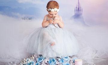 Νεογέννητα φωτογραφίζονται ξανά ένα χρόνο μετά ως πριγκίπισσες της Disney (pics)