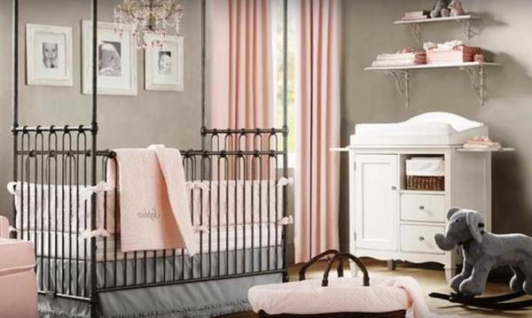 Σας αρέσει ο συνδυασμος γκρι-ροζ; Δείτε πως θα τον εφαρμόσετε στο παιδικό δωμάτιο (vid)