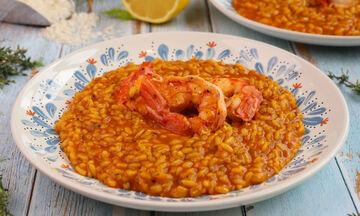 Συνταγή για νόστιμο ριζότο με γαρίδες και σαφράν