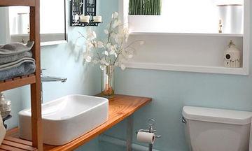 Τρόποι για να κάνετε το μικρό σας μπάνιο να δείχνει μεγάλο