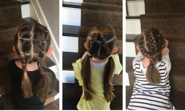 Η κόρη της πηγαίνει στο σχολείο με διαφορετικό χτένισμα κάθε μέρα - Πάρτε ιδέες (pics)