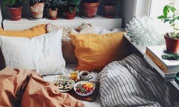 Φθινοπωρινή διακόσμηση: 20 ιδέες για την κρεβατοκάμαρά σας (pics)