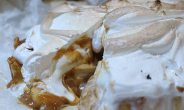 Banoffee Baked Alaska - Μια συνταγή από τον Γιώργο Τσούλη