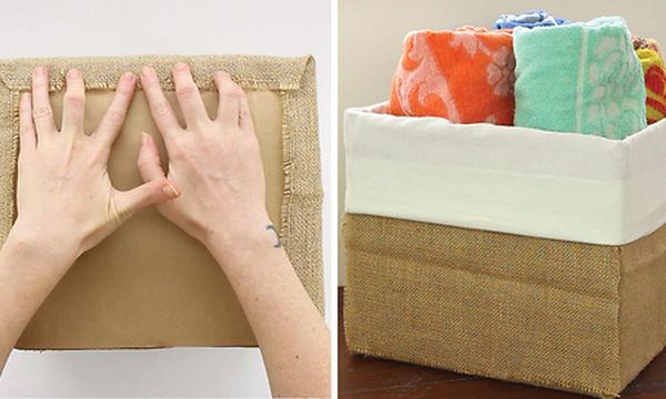Φτιάξτε μόνοι σας μοδάτα διακοσμητικά καλάθια από χάρτινα κουτιά (vid)