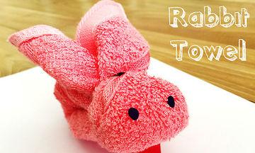 Διακοσμήστε το μπάνιο του παιδιού σας με πετσετένια λαγουδάκια! (vid)