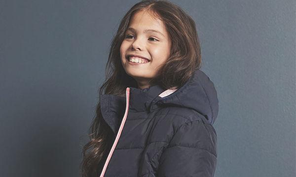 Μπουφάν Μπλε για κορίτσια με ροζ φερμουάρ κάτω από 35 ευρώ