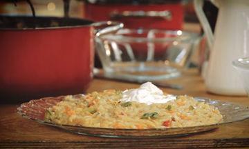 Κριθαρότο με λαχανικά και μους φέτας - Δοκιμάστε το!