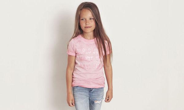 Ροζ T-shirt  για κορίτσι κάτω από δέκα ευρώ