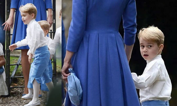 Ο πρίγκιπας George και η πριγκίπισσα Charlotte έκλεψαν την παράσταση σε φιλικό γάμο των γονιών τους