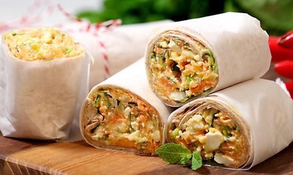 Κολατσιό για το σχολείο: Αραβική πίτα με λαχανικά (vid)
