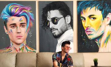 Tα πιο ρεαλιστικά πορτραίτα διασήμων στους πίνακες αυτού του ταλαντούχου καλλιτέχνη (pics)