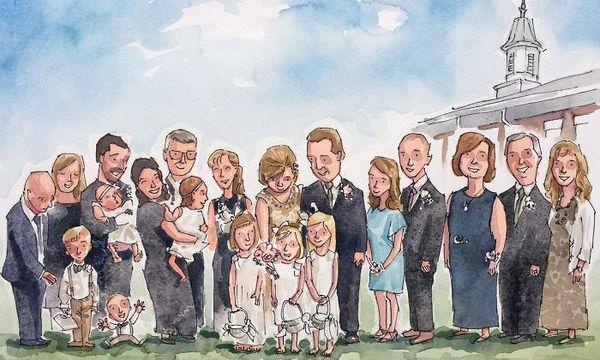 Καλλιτέχνης απεικονίζει σε σκίτσα στιγμιότυπα από αγαπημένες στιγμές οικογενειών (pics)